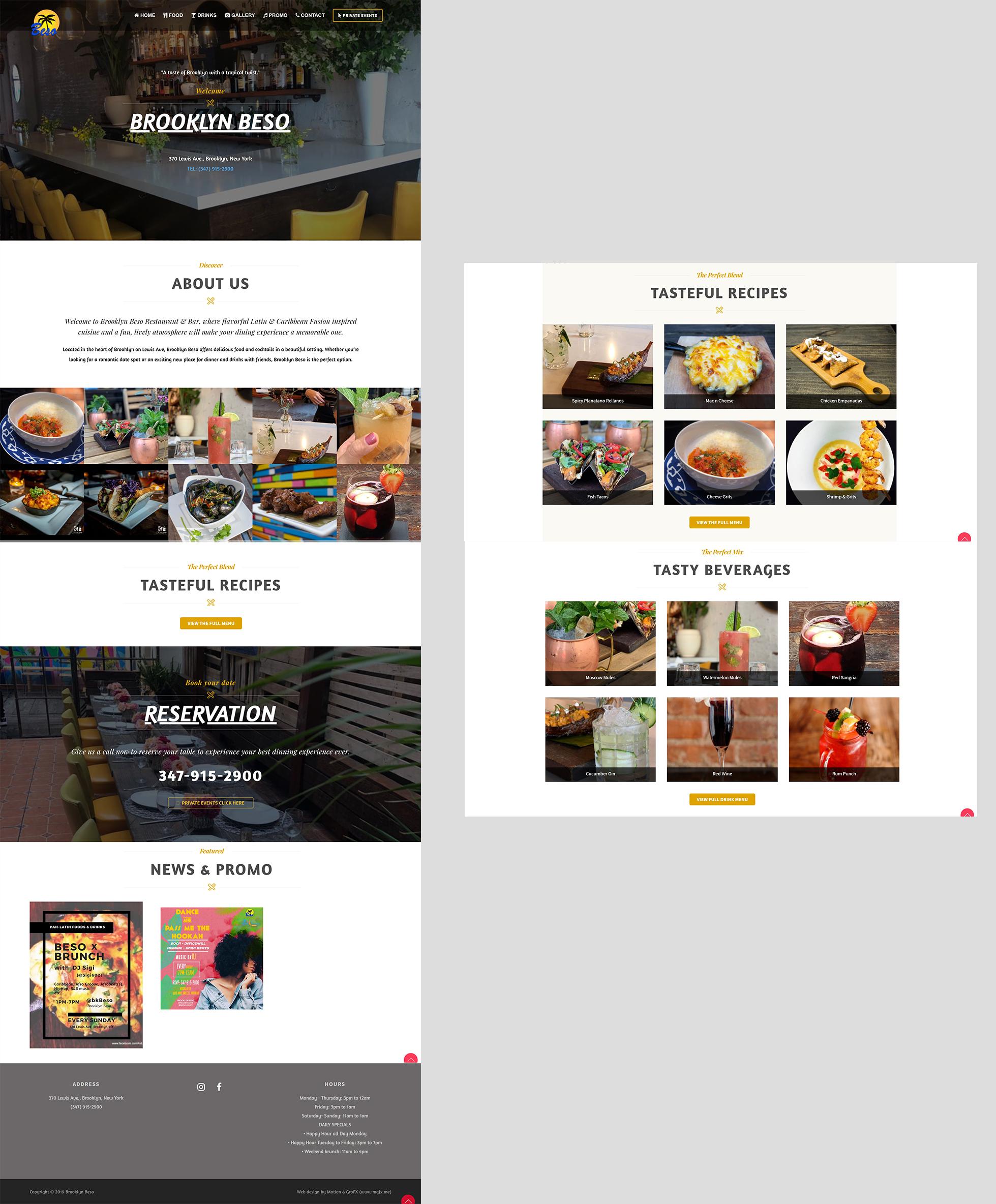 BK Beso Website