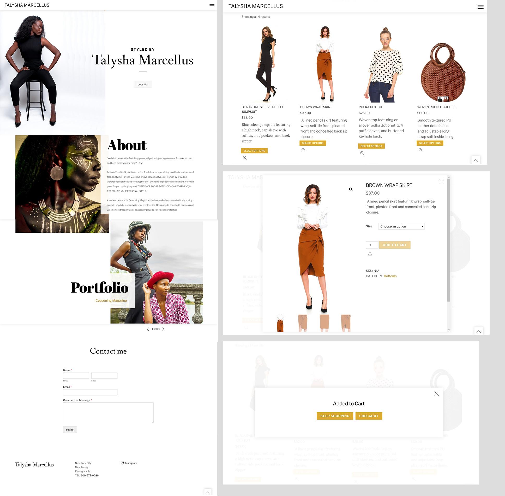 Talysha Marcellus Website